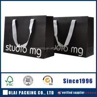 logo printing paper bag silver foil stamp paper bag