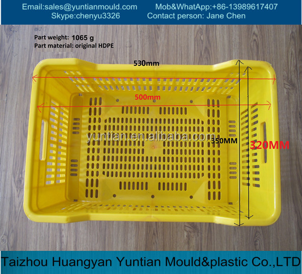 Factory directly sale low price plastic injection molding crate for vegetable