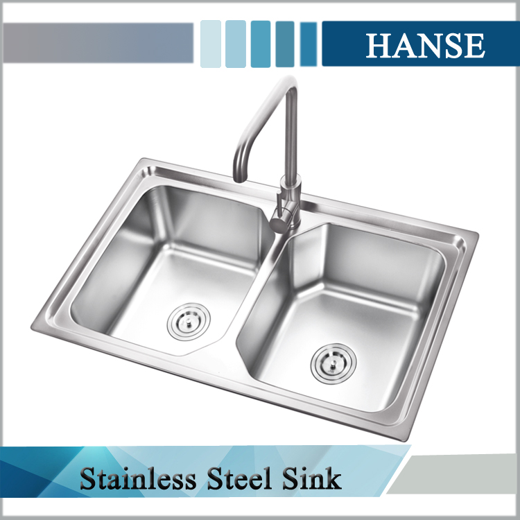 K E8550 Commercial Stainless Steel Double Sink Steel Wash