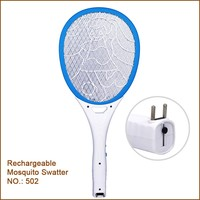 Best Sell Electric Mosquito Swatter With Led Light Rechargeable Mosquito Bat Kills Insects On Contact
