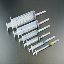 Different sizes of medical disposable luer slip/luer lock injection plastic syringe