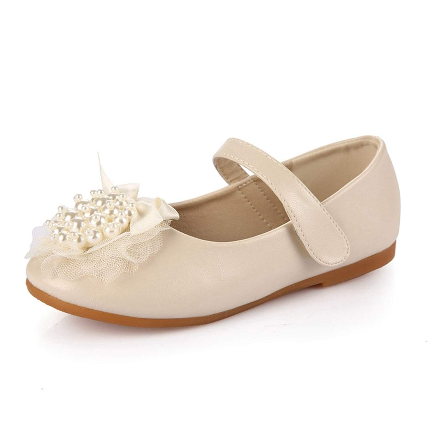 Buy CYBLING Kids Girls Mary Jane Flats Wedding Party Ballet ...