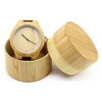 Wholesale Handcrafted Wood Original Watches With Band Custom Logo Digital Design Your Own Bamboo Wood Watch