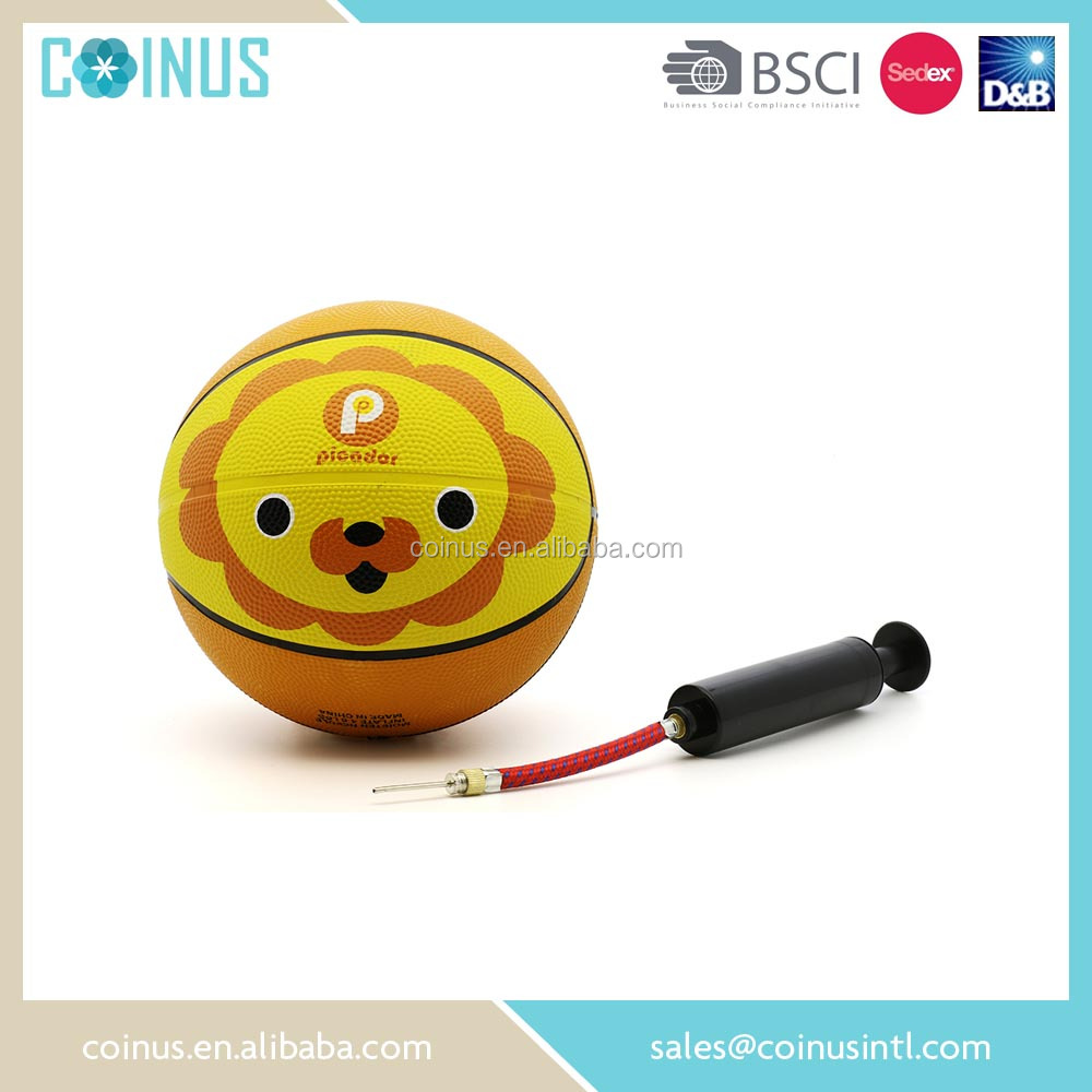 Hot toys school size 3 wholesale mini basketball with lion printing