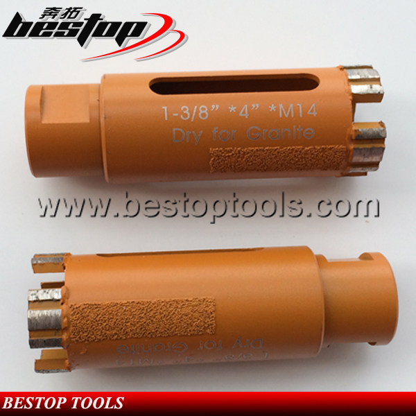 Bestop Hot Sale M14 Dry Core Drill Bit with Vacuum Brazed Side Protection
