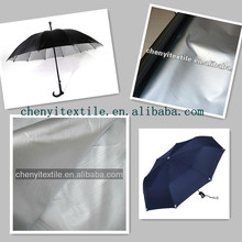 Textile 170T 190T 210T polyester fabric silver coated for umbrella