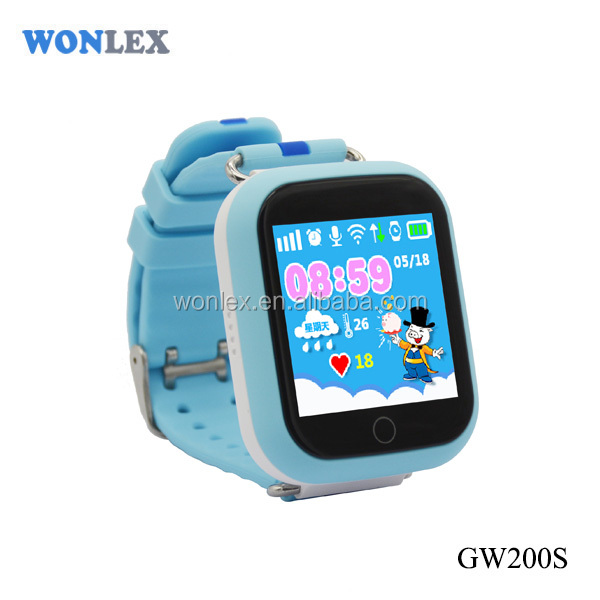 GW200s New touch bigger screen SeTracker customizabletouchable gps watch phone kids