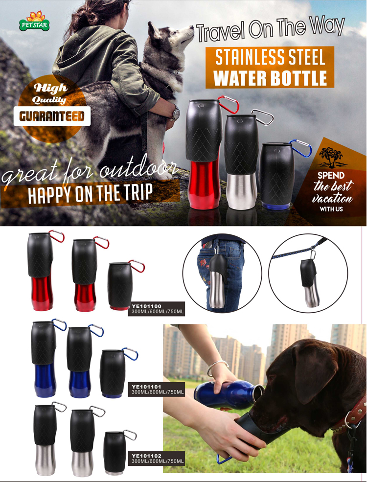 Portable Travel Pet Dog Drinking Fountain Dog Bowl Water Drink Bottle For Walking