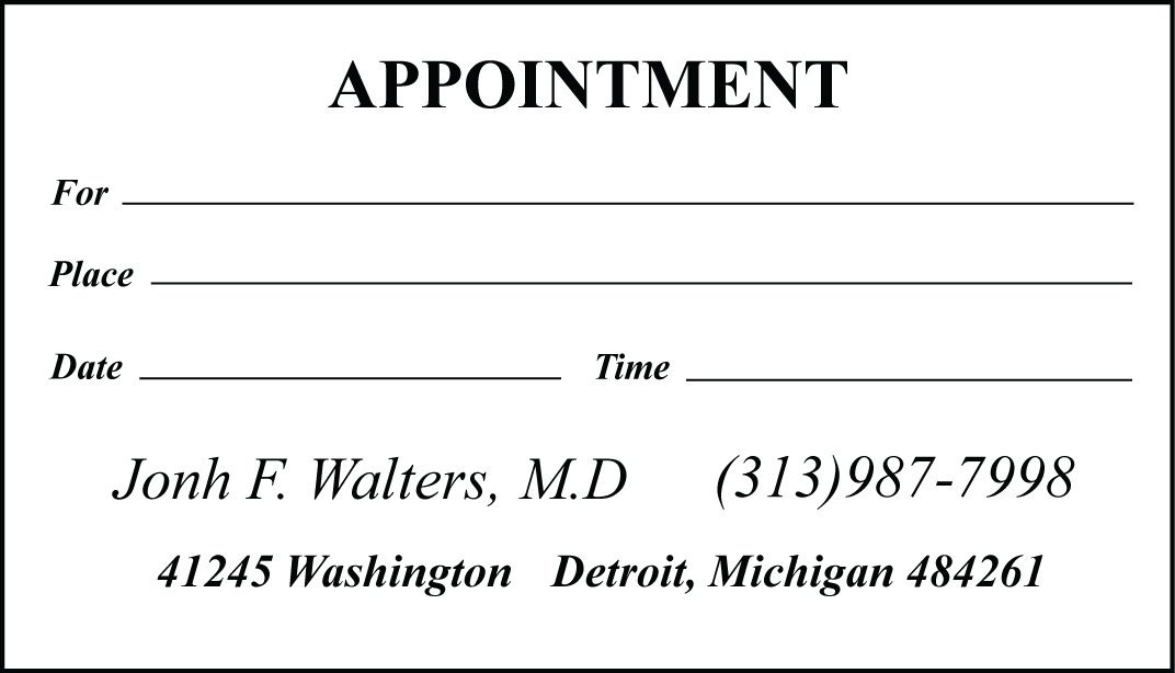 Cheap Appointment Card Samples, find Appointment Card Samples deals ...