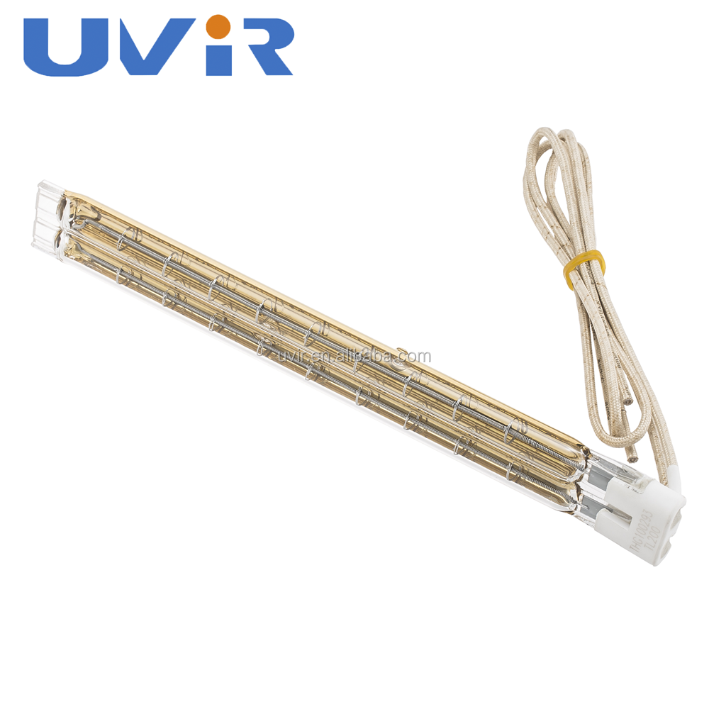 UVIR high quality energy save twin tube gold reflector IR heater for industrial heating source