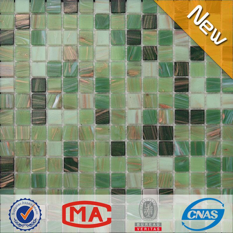 patrón de cuarto de baño etiqueta de la pared verde cuadrados 20mm ...