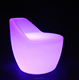 Wholesale plastic lighting bar chairs RGB colorful led bar chair with remote control with 16 colors changing