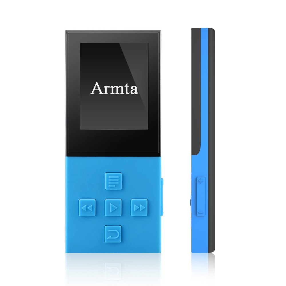 Armta X9 8GB Bluetooth and High Resolution Digital Audio MP3 Player with Voice Recorder/FM Radio/HD Headphones,Supports up to 64GB