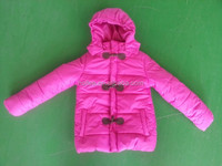 OEM fashional outdoor kids wear pink coat children jacket in winter
