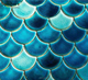 cerulean fish scale mosaic tile blue fan mosaic swimming pool tiles for sale