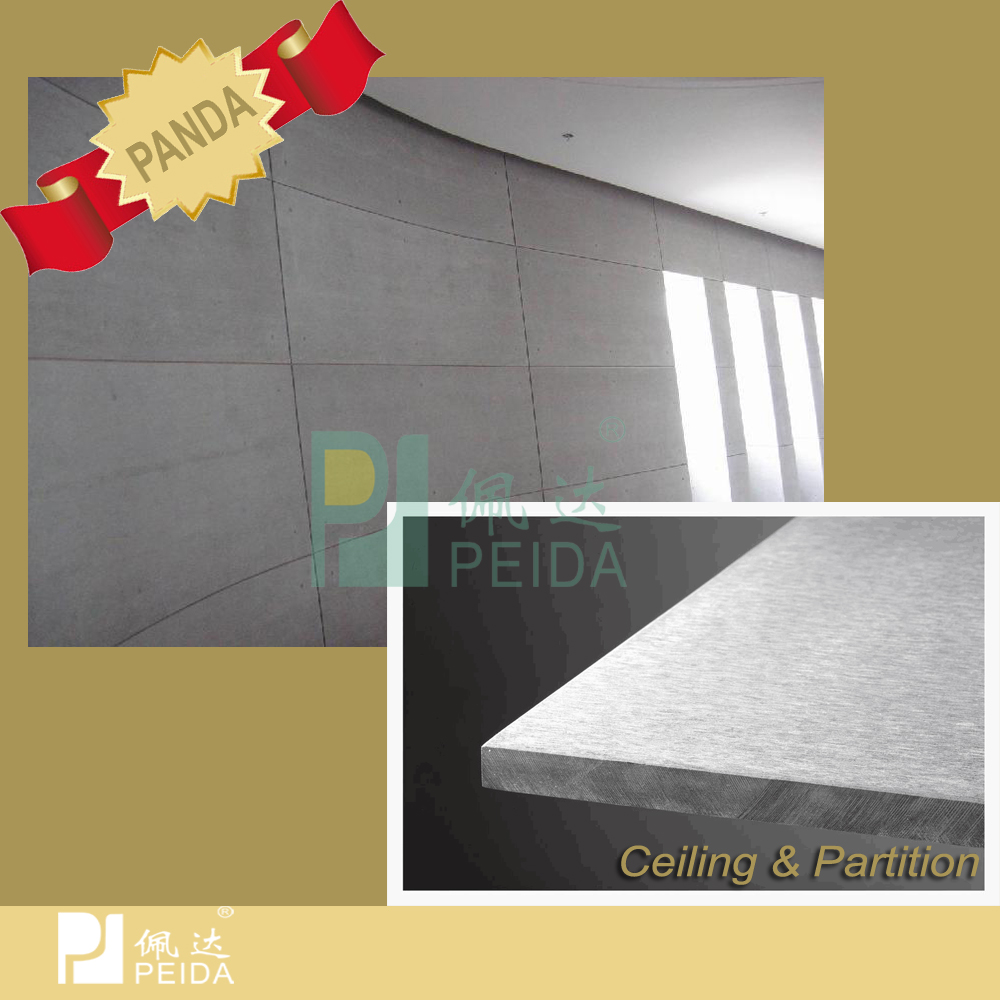 Competitive Price Waterproof And Fireproof Asbestos Free Fiber Cement Board For Wall Partition Ceiling And Flooring