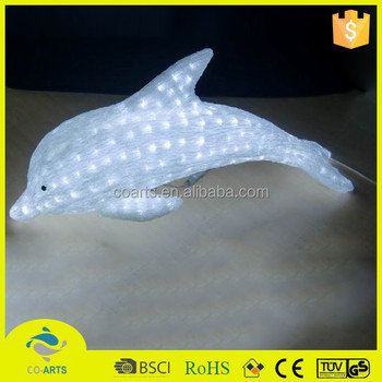 2015 New fashion dolphin acrylic christmas decorate light