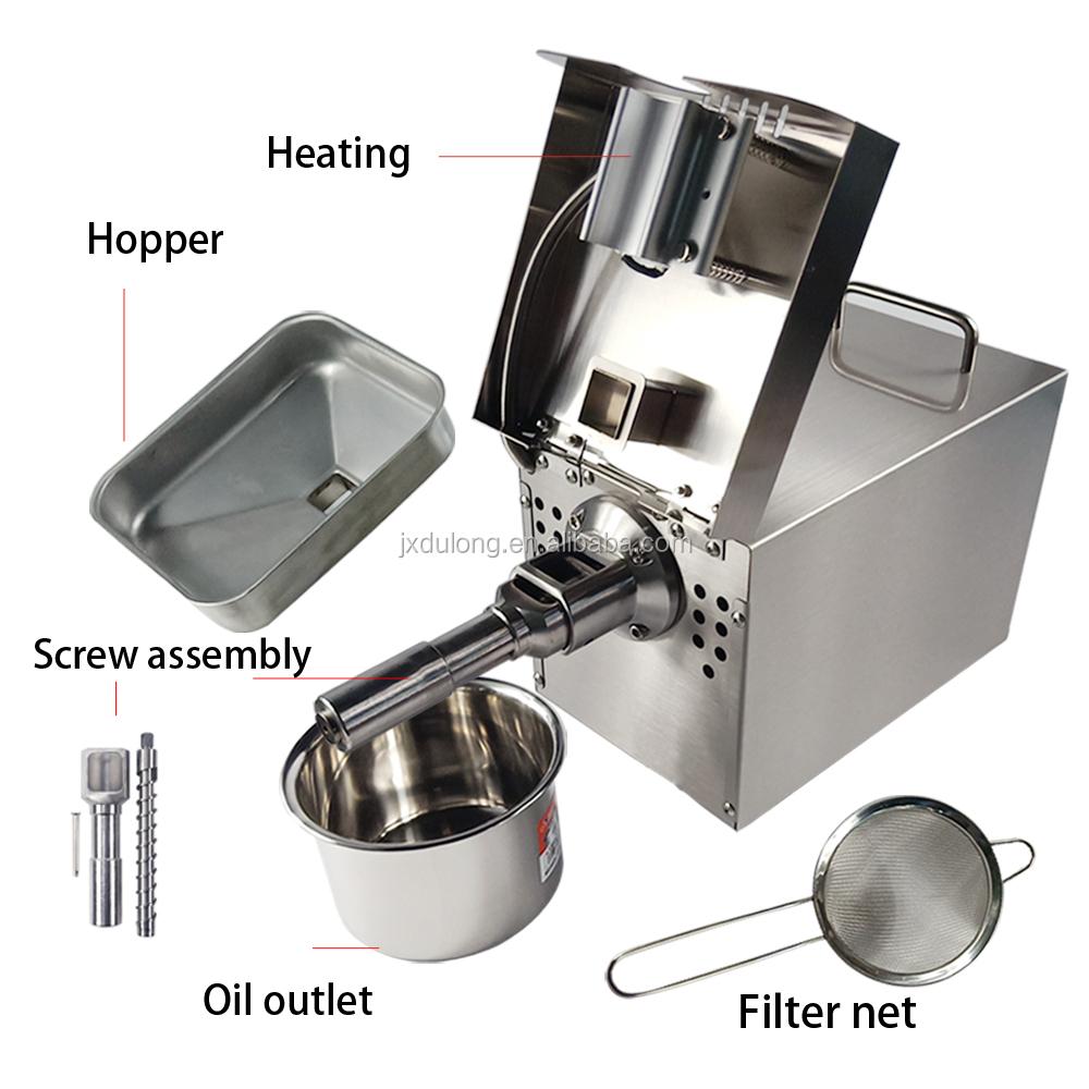 Kleine automatische heimgebrauch kaltpressung mini coconut/senf öl expeller maschine/öl presser