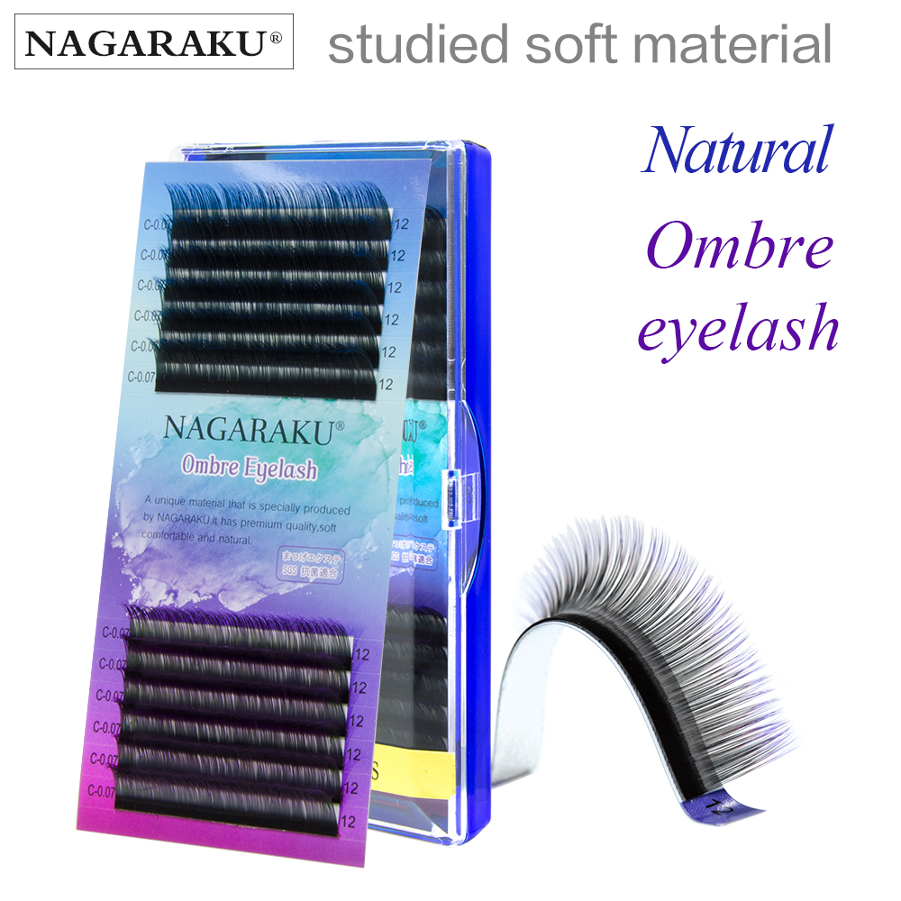 A Box Of 5 Mixed Color False Eyelashes Gradient Eyelash Nagaraku Mink Extension Single Size Colored Individual Extensions Suppliers And Manufacturers At Alibabacom
