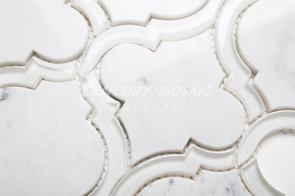 Glas Bedekt Marmer Arabesque Keuken Backsplash Tegels Waterjet ...