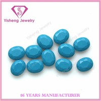 Oval Faceted Tables Prices Turquoise Stone Beads, Synthetic Turquoise