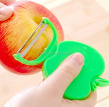Plastic apple shaped foldable fruit vegetable peeler / Folding type apple peeler