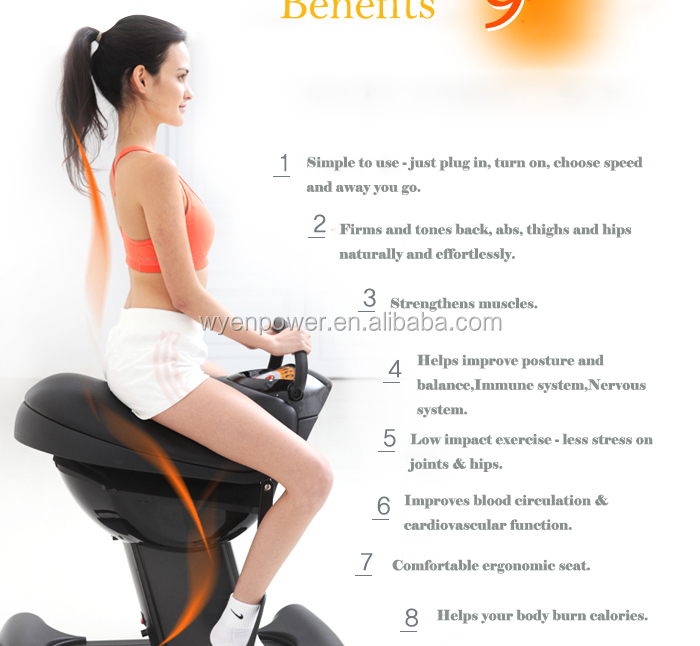 saddle exercise machine