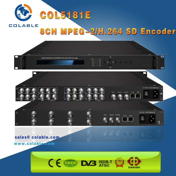 Colable 8 in 1 rtmp UDP A/V sd sdi encoder hd/encoder sdi per ip