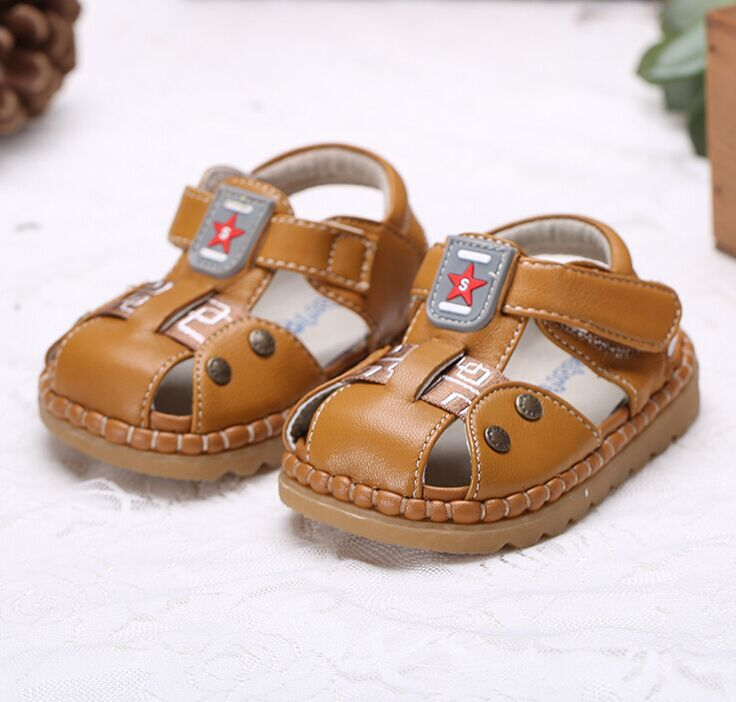 2017bc814c6a4 2015 new Cowhide genuine leather sandals male child sandals shoes children  baby boy summer sandals free