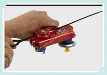 Free Shipping Beyblade Double Tops New Launcher For Beyblade Metal Fusion Spinning Top Toys,Red & Blue & Black Colors Launchers