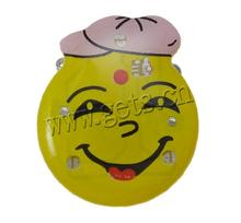 Resin Smiling Face Ceramic Lady Face Brooch 792924