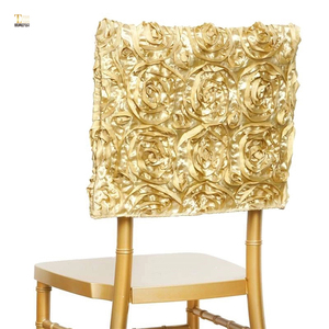 New style wedding rosette chair cover sashes rose gold chair cap