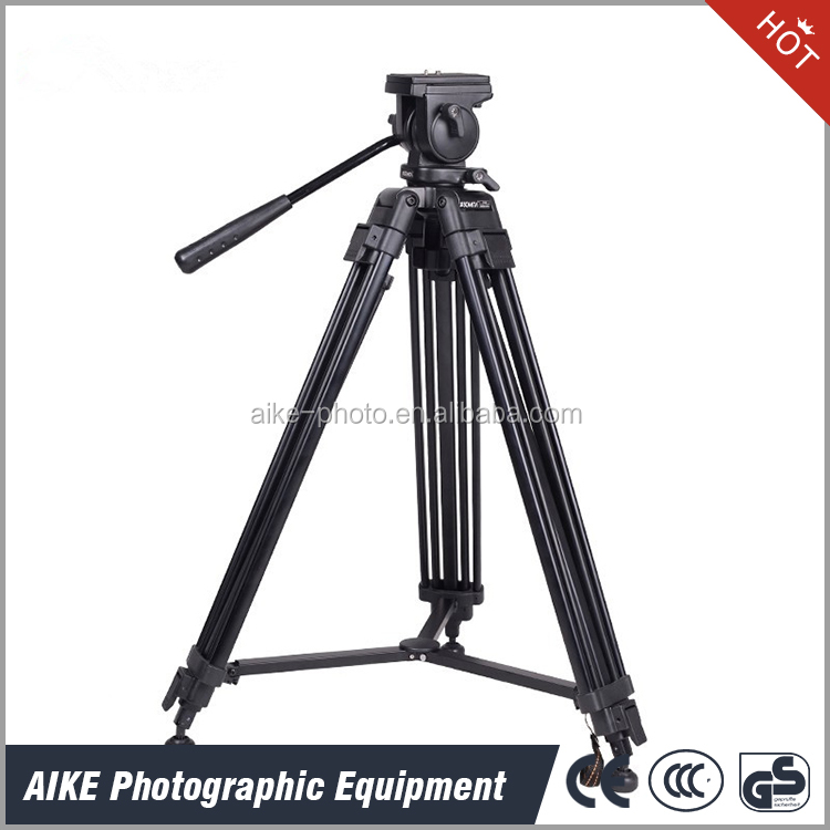 High Quality Aluminum Professional Heavy Duty Video Camera Tripod with 55mm Fluid head for DSLR SLR Cameras, Camcorders