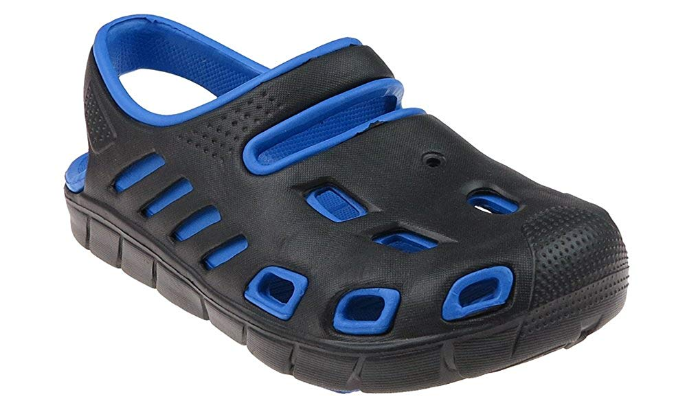 Capelli New York Boys Two tone injected EVA closed toe sandal with backstrap