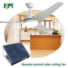 5 year warranty 60 inch remote control dc brushless copper motor outdoor indoor solar powered ceiling fan with light australia
