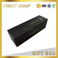Luxury custom made red wine bottle box magnetic red wine box
