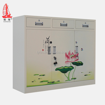Chines Style Half Height Stainless Steel Shoe Rack Primary School Furniture White Cabinet With