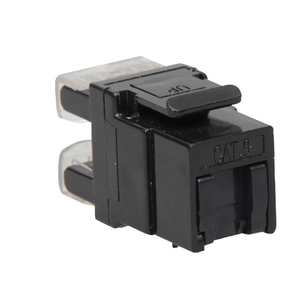 New Style Cat5E/Cat6 RJ45 female jack with shutter 180 degree