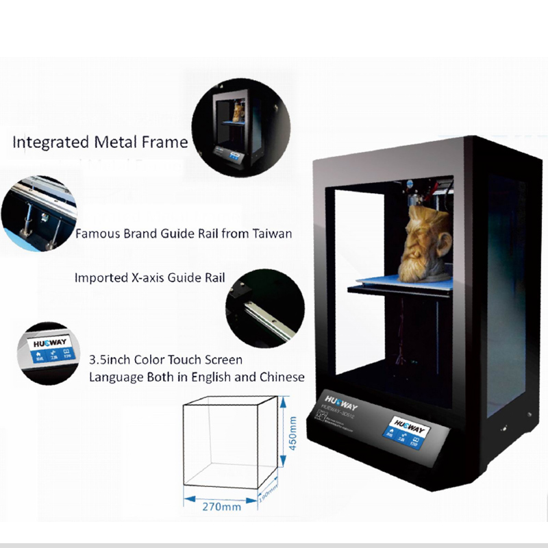 High Precision 0.05Milimetre 3D Plastic Printing Machine 3D Filament Extruder Machine