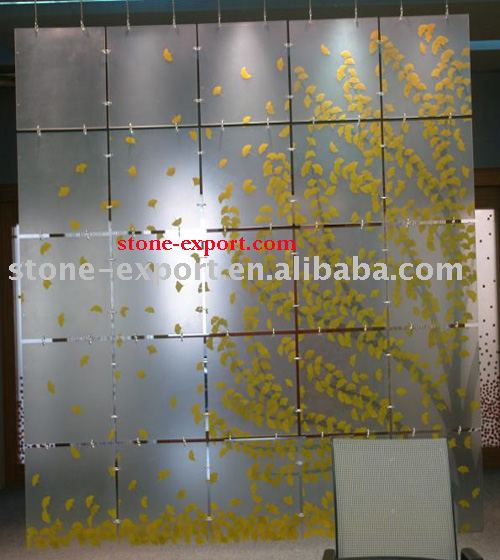 Polyester Resin decoration panels,semi-translucent panel with gloss surface