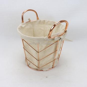 Home Living Decoration Bread Storage Basket Countryside Iron Art Toy Storage  Basket
