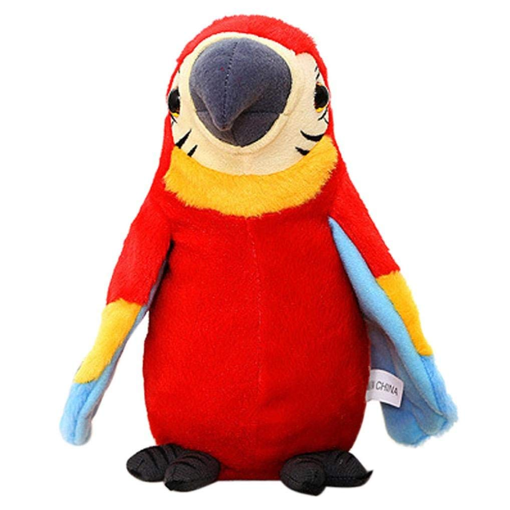 Get Quotations · JPOQW Toddler Kids Speak Talking Parrot Plush Toy Waving  Wings Cute Parrot Smart Toy Gift ( 0f43daf6f7