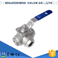 Mini Stainless Steel 3 Way Ball Valve
