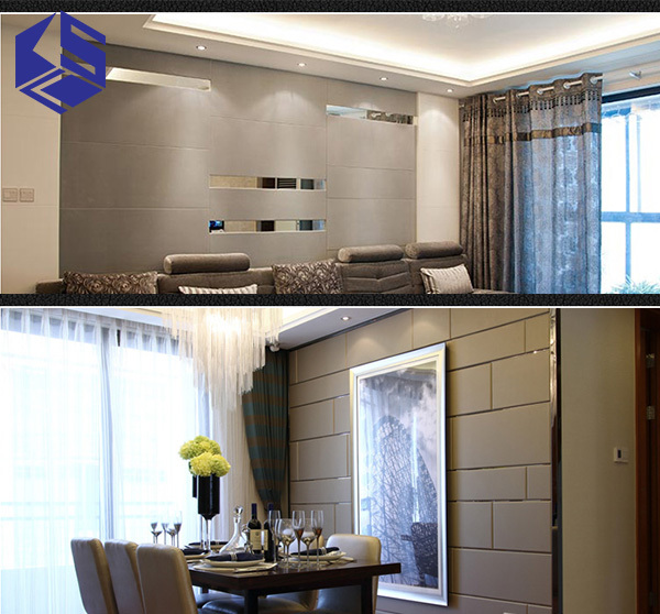 Soft Leather 3D Fireproof Wall Panel For Wholesaler TV Background Bedroom  Wall Padding