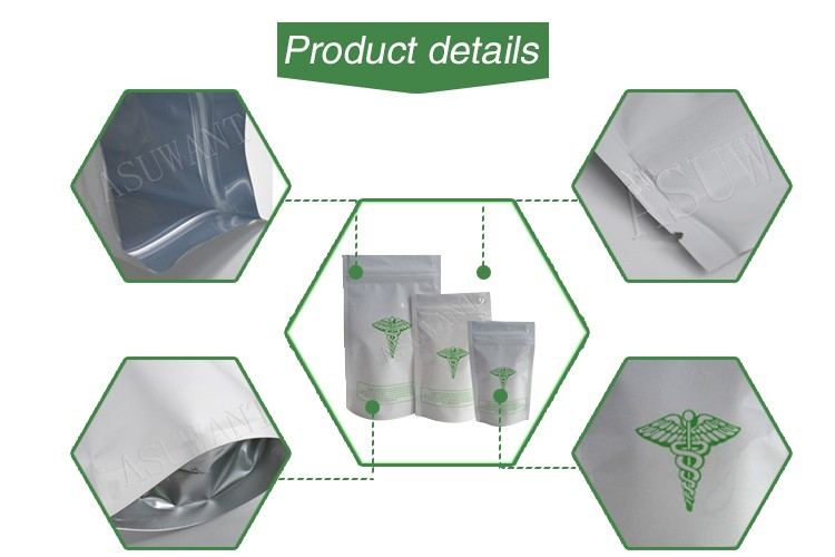 mini ziplock mylar bag smell proof  pre-roll syringe packaging bag from BRC Approval china factory