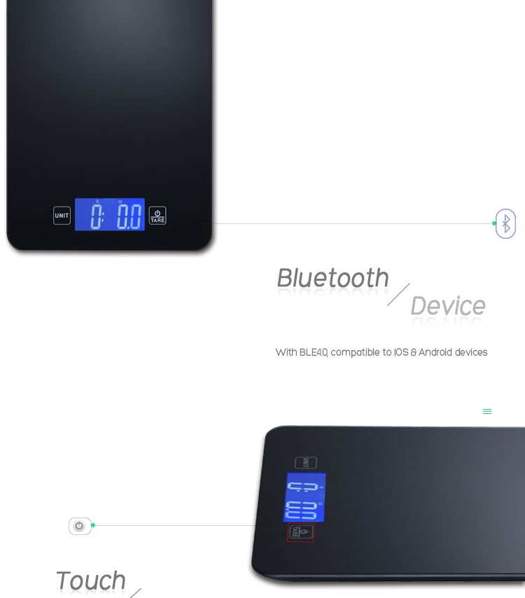 2017 new amazon hot sell digital bluetooth food diet for Bluetooth kitchen scale
