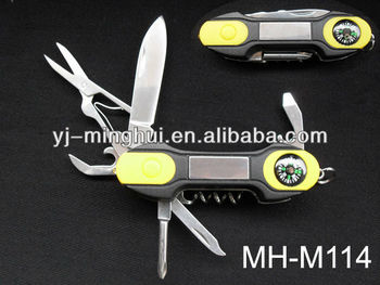 Promotion knife with led & compass