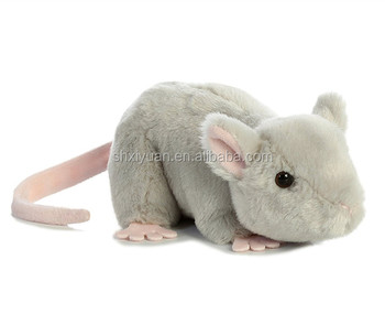 stuffed mouse toy soft white plush mouse