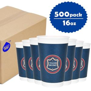 OTOR brand oem food grade double layer coffee waxed paper cup and plastic lid manufacture