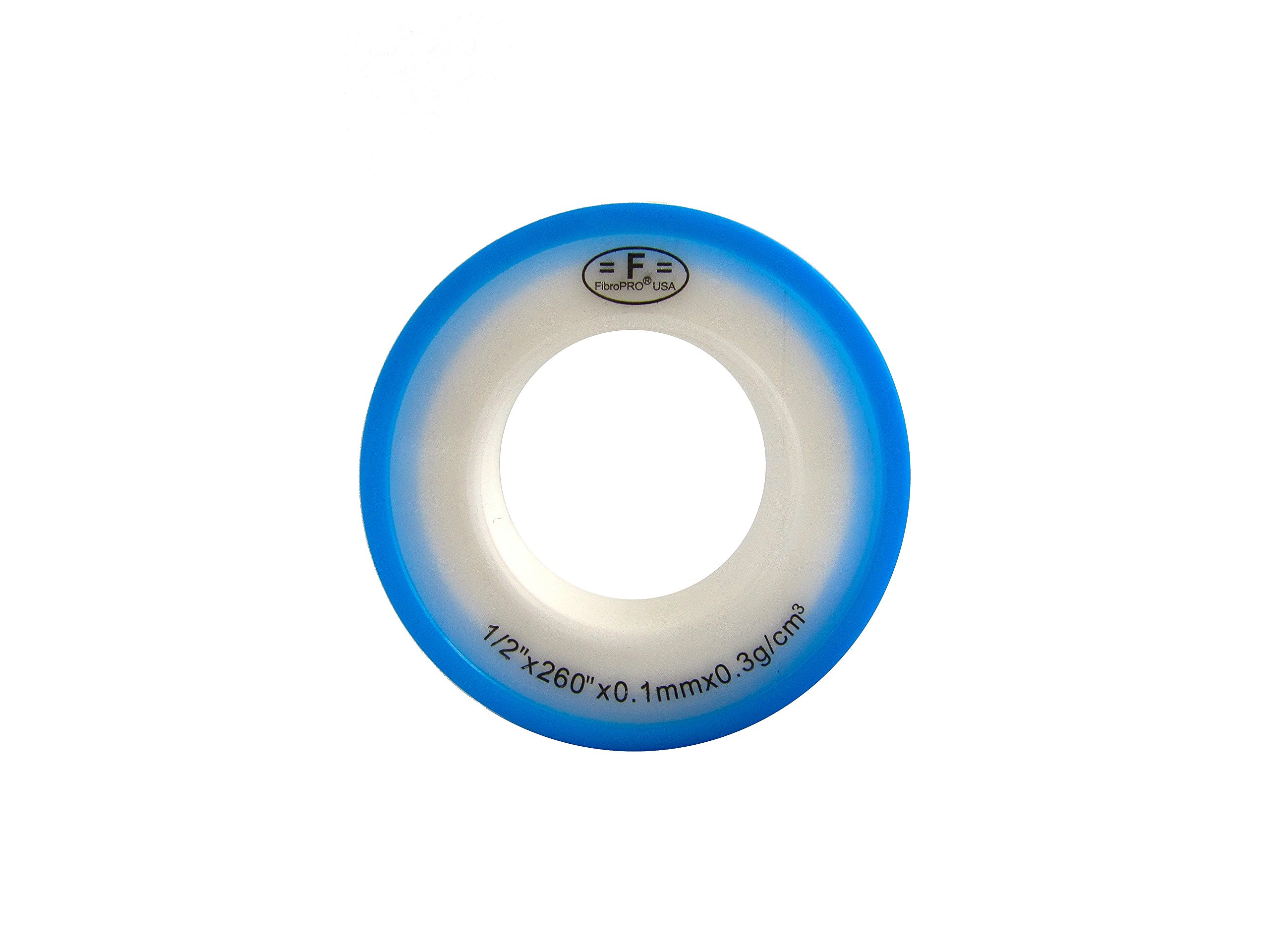 """FibroPro 10-pack Gas and Drinking Water Teflon/PTFE Tape, 1/2""""x260"""""""